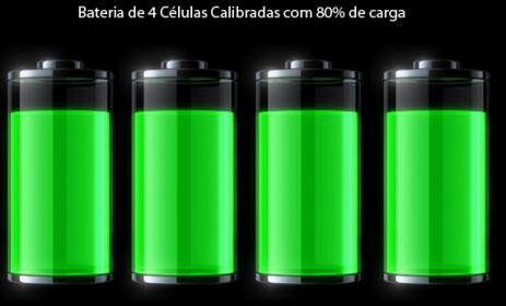 bateria calibrada