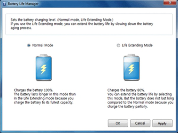 Bateria notebook LG Power Manager Suite - Battery Life Mananger